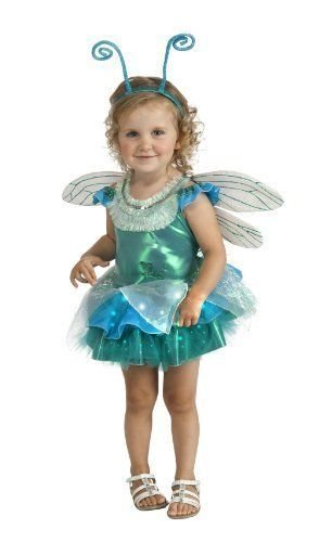 Image 0 of Teal Green & Aqua Blue Dragonfly Tutu Deluxe Girls Costume w/ Wings, Antennae
