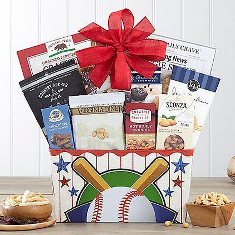 Image 0 of It's a Hit: Baseball Snacks Gift Basket