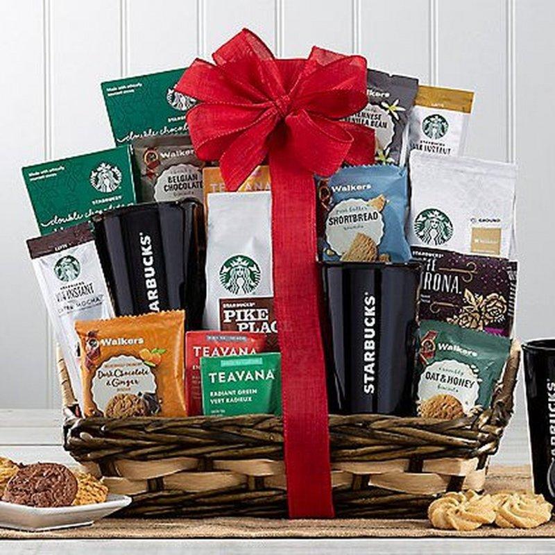 Image 0 of Starbucks Spectacular: Gourmet Coffee & Tea Gift Basket