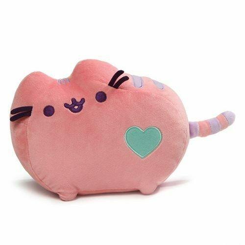 Image 1 of Pusheen the Cat Pink Pastel Heart Plush 12-Inch, Gund
