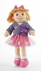 Adorable Apple Dumplin' Cloth 14 Doll by Delton - Purple Wrap