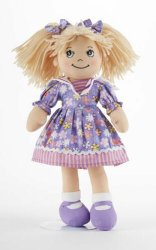 Adorable Apple Dumplin' Cloth 14 Doll by Delton - Purple Explosion