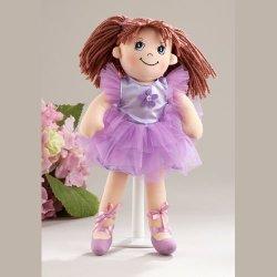 Adorable Apple Dumplin' Cloth 14 Doll by Delton - Purple Ballerina