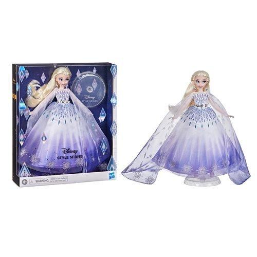 Image 1 of Disney Princess Style Series Holiday Elsa Fashion Doll, Hasbro