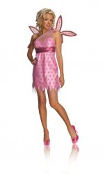 Secret Wishes Women's Pink Playboy Fairy Adult Costume w/Wings