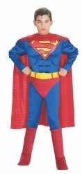 Super DC Heroes Deluxe Muscle Chest Superman Costume, Child's 882626