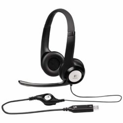 Logitech HeadSet H390 ClearChat Comfort USB Noise Cancelling Microphone