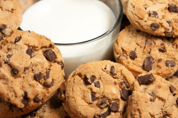 Grandmother's Cookies and Milk