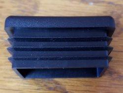 30mm x 40mm Rectangle End Cap Plugs,Tube Inserts, Rectangular Pipe Caps- Black