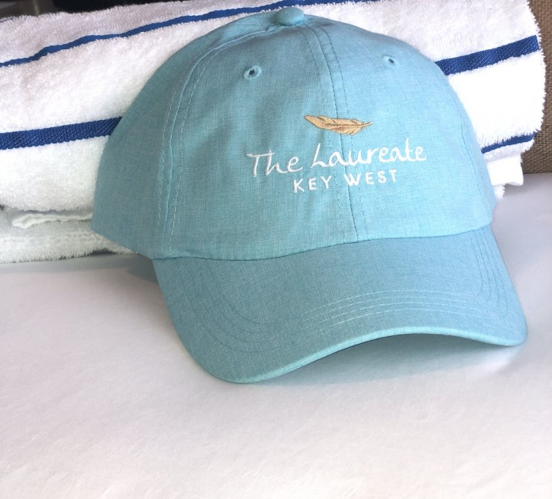 Hat Blue with embroidered hotel logo
