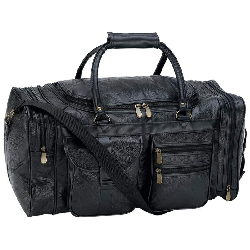 Image 0 of LULPB21 - Embassy™ Hand-Sewn Pebble Grain Genuine Leather 21'' Tote Bag
