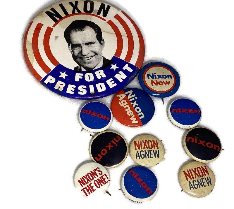 Image 2 of Vintage Political Campaign Buttons Richard Nixon