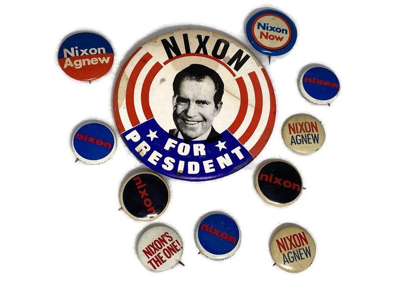 Image 3 of Vintage Political Campaign Buttons Richard Nixon