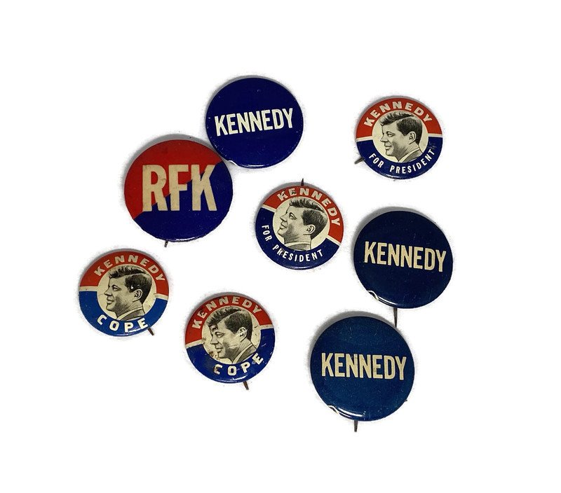 Image 0 of Vintage Political Campaign Buttons John F. Kennedy