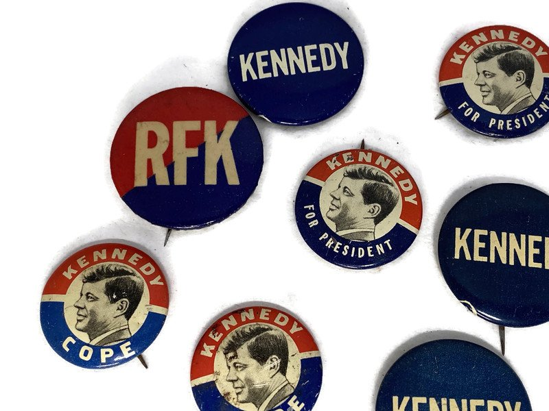 Image 2 of Vintage Political Campaign Buttons John F. Kennedy