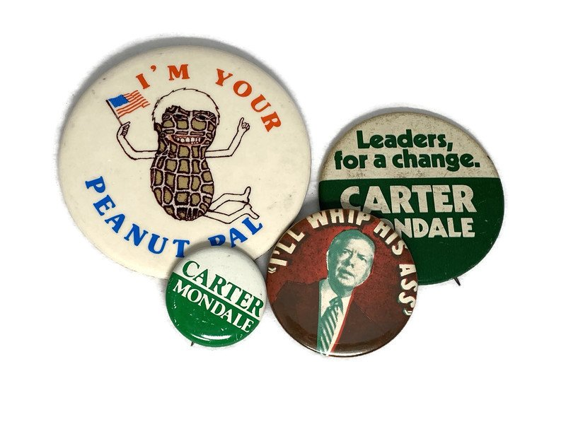 Image 2 of Vintage Political Campaign Buttons Jimmy Carter