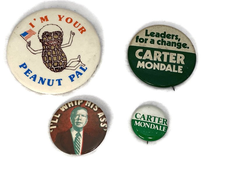 Image 3 of Vintage Political Campaign Buttons Jimmy Carter
