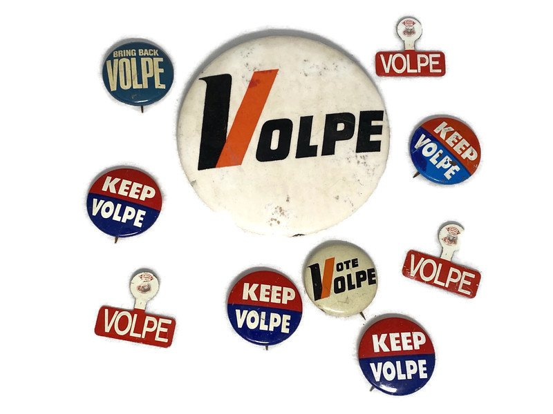 Image 0 of Vintage Political Campaign Buttons Volpe