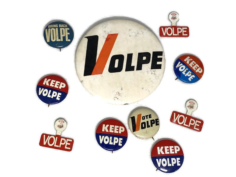 Image 1 of Vintage Political Campaign Buttons Volpe