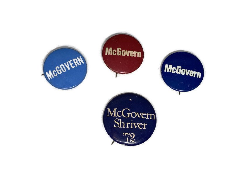Image 0 of Vintage Political Campaign Buttons McGovern