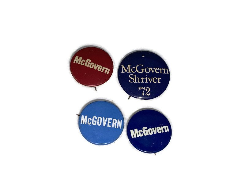 Image 1 of Vintage Political Campaign Buttons McGovern