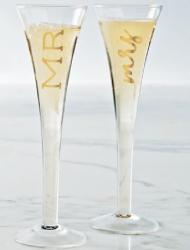 Mr & Mrs Champagne Flutes Set