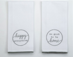Happy Home Towel Set of TWO