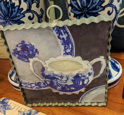 Blue White Cup & Saucer Gallery Print