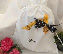 Leopard Accent High Heel Shoe Bag
