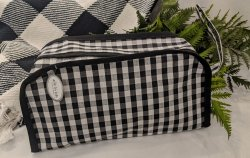 Gingham Travel Cosmetic