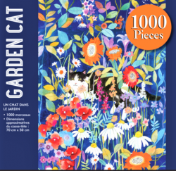 Colorful GARDEN CAT 1000pc Puzzle