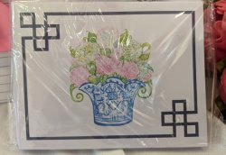 Hydrangeas in Blue Pot Notecard SET