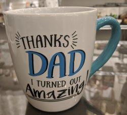 THANKS DAD Large Coffee Mug