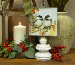 Autumn Chickadees Gallery Print