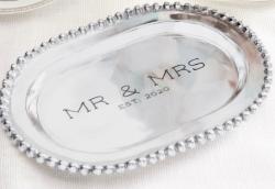 Mr & Mrs Aluminum Platter