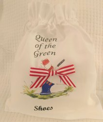 Queen of the Green GOLF Shoe Bag