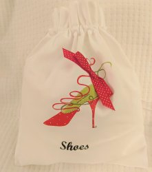 Red Ribbons High Heel Shoe Bag