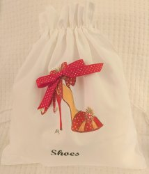 Red Polka Dot Jingle High Heel Shoe Bag