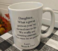 Humorous Daughter Coffee Mug