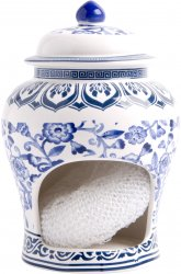 Ginger Jar Blue & White Scrubby/Sponge Holder