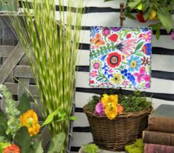Mini Flourescent Floral Gallery Print