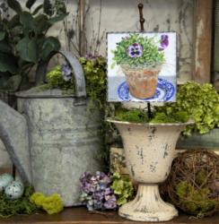 Mini Pot of Pansies Gallery Print