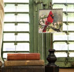 Cardinal on Dogwood Branch Gallery Print