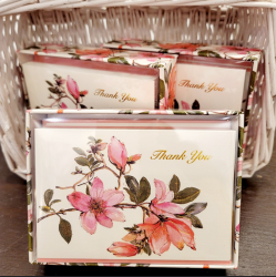 Magnolia Thank You Note Cards Set
