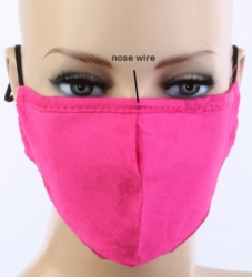 Face Mask Solid HOT PINK with Carbon Filter