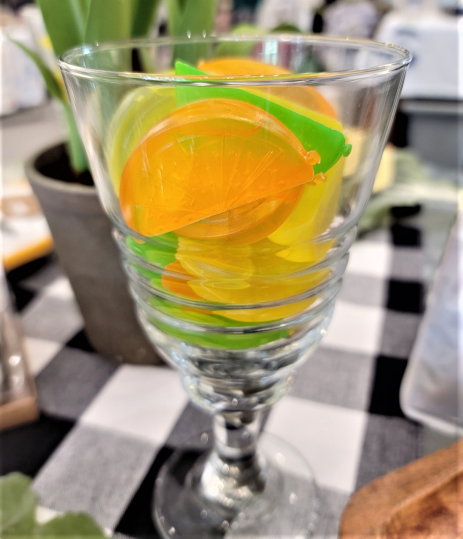 Image 1 of Reuseable Fruit Slice Ice Cubes
