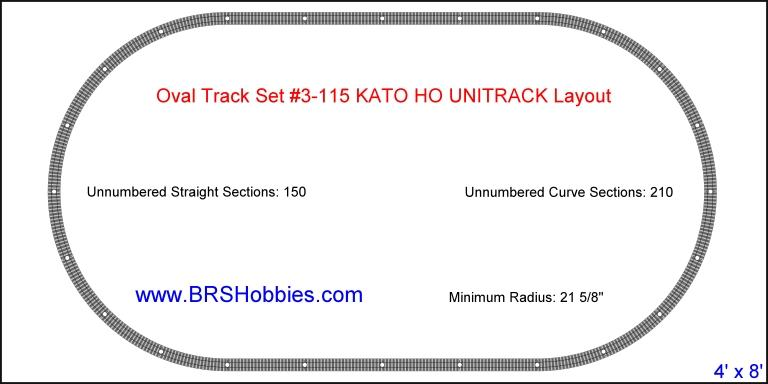 Oval Track Set #3-115 KATO HO UNITRACK Layout photo KatoUNITRACKOval.jpg