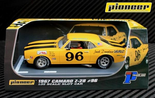 Image 0 of Pioneer 1967 Chevrolet Camaro Z-28 Trans-Am #96 1/32 Slot Car P041