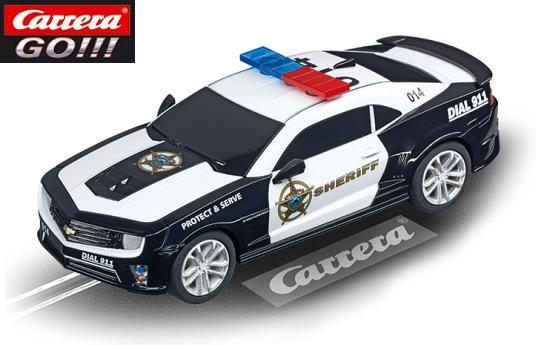 Carrera GO Chevrolet Camaro Sheriff 1/43 Slot Car 20064031
