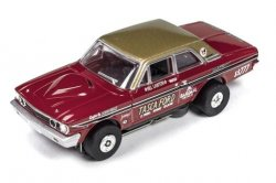 Auto World ThunderJet R16 TASCA Ford 1964 Thunderbolt Super Stock HO Slot Car